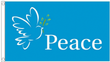 Dove of Peace Blue 5'x3' Flag